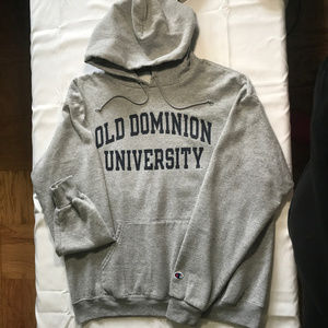 Old Dominion University grey hoodie sz Large